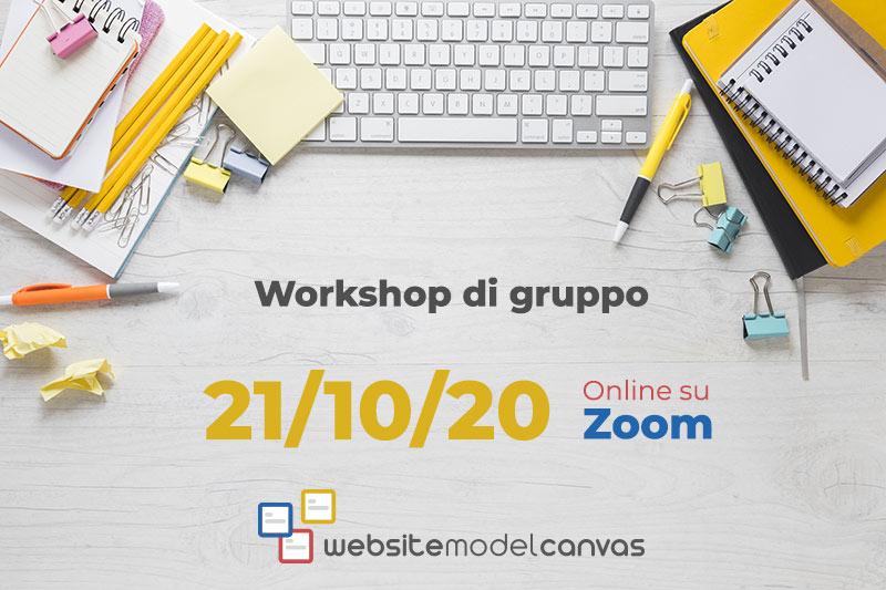 Workshop gruppo col Website Model Canvas_21-10-2020