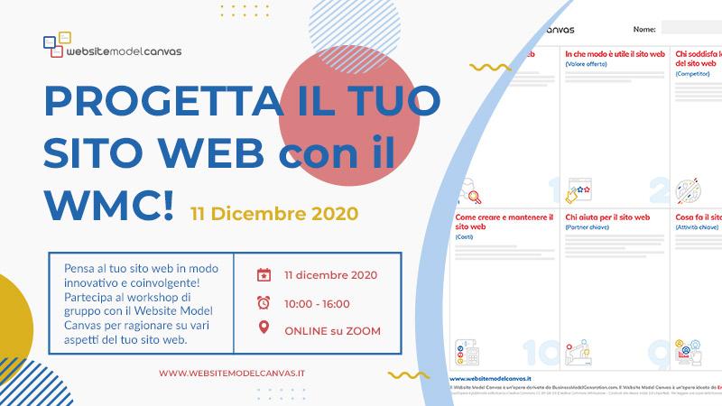 Workshop con il Website Model Canvas del 11 dicembre 2020