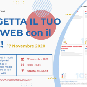 Workshop con il Website Model Canvas del 17 novembre 2020