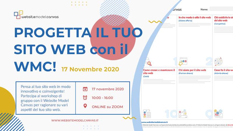 Workshop con il Website Model Canvas del 17 novembre 2020